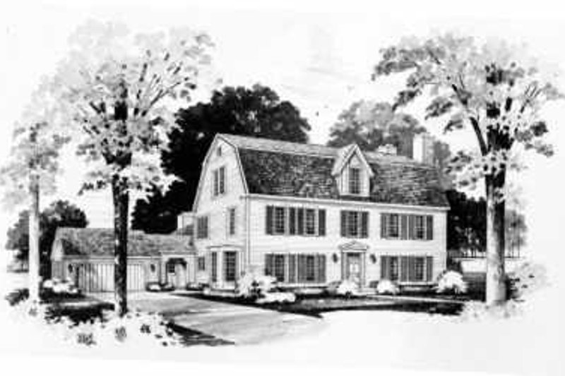 Colonial Exterior - Front Elevation Plan #72-371