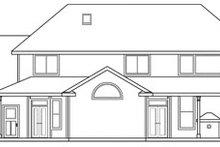 Home Plan - European Exterior - Rear Elevation Plan #124-319