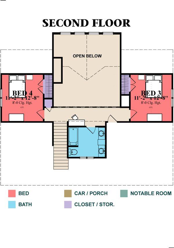 Beach Floor Plan - Lower Floor Plan Plan #63-395