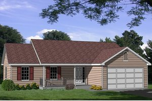 Ranch Exterior - Front Elevation Plan #116-169