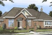 Traditional Style House Plan - 3 Beds 3 Baths 2665 Sq/Ft Plan #20-1826 Exterior - Front Elevation