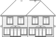 European Exterior - Rear Elevation Plan #23-774