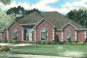 European Style House Plan - 4 Beds 2.5 Baths 2631 Sq/Ft Plan #17-1180 Exterior - Front Elevation
