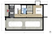 Farmhouse Style House Plan - 2 Beds 2 Baths 1517 Sq/Ft Plan #933-10 Floor Plan - Lower Floor
