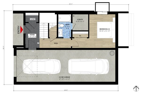 Farmhouse Floor Plan - Lower Floor Plan Plan #933-10