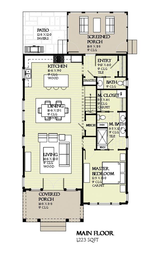 Prairie Floor Plan - Main Floor Plan Plan #901-116