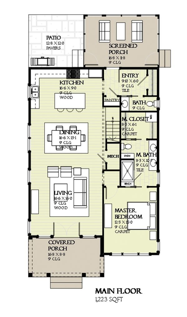 Prairie Floor Plan - Main Floor Plan Plan #901-116