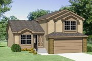 Traditional Style House Plan - 3 Beds 3 Baths 1455 Sq/Ft Plan #116-197 Exterior - Front Elevation