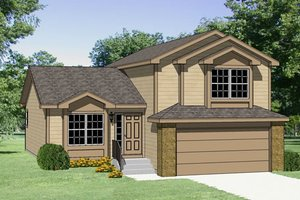 Traditional Exterior - Front Elevation Plan #116-197