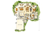 Log Floor Plan - Main Floor Plan Plan #942-43