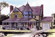 Victorian Style House Plan - 4 Beds 2.5 Baths 2205 Sq/Ft Plan #315-105 Exterior - Front Elevation