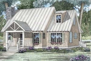 Country Exterior - Front Elevation Plan #17-2021