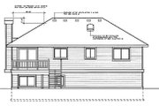 Traditional Style House Plan - 3 Beds 3 Baths 1143 Sq/Ft Plan #87-501 Exterior - Rear Elevation
