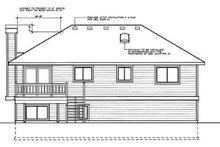 House Plan Design - Traditional Exterior - Rear Elevation Plan #87-501