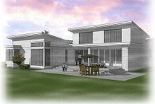 Home Plan - Modern Exterior - Rear Elevation Plan #48-497