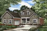 European Style House Plan - 4 Beds 2 Baths 1965 Sq/Ft Plan #17-611 Exterior - Front Elevation