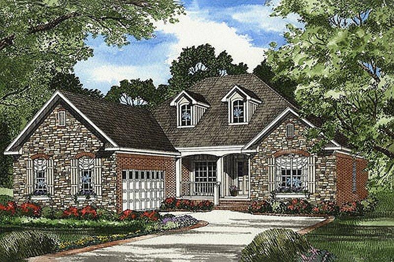 Dream House Plan - European Exterior - Front Elevation Plan #17-611