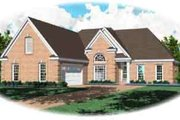 Traditional Style House Plan - 3 Beds 2 Baths 1635 Sq/Ft Plan #81-517 Exterior - Front Elevation