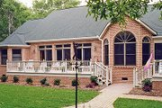 Southern Style House Plan - 4 Beds 3 Baths 2567 Sq/Ft Plan #456-4 Exterior - Rear Elevation