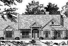 Country Exterior - Front Elevation Plan #40-201