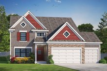 Dream House Plan - Traditional Exterior - Front Elevation Plan #20-2266