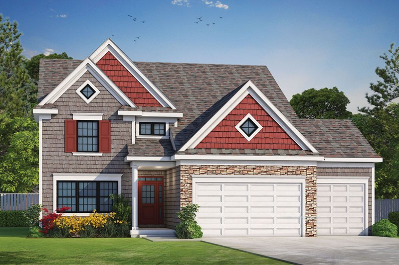 Home Plan - Traditional Exterior - Front Elevation Plan #20-2266