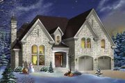 European Style House Plan - 4 Beds 3.5 Baths 2991 Sq/Ft Plan #23-408 Exterior - Front Elevation