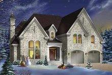 House Design - European Exterior - Front Elevation Plan #23-408