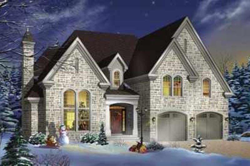 Dream House Plan - European Exterior - Front Elevation Plan #23-408