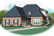 European Style House Plan - 4 Beds 3 Baths 3079 Sq/Ft Plan #81-1523 Exterior - Front Elevation