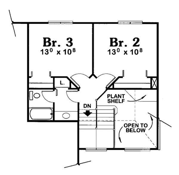 European Floor Plan - Upper Floor Plan Plan #20-2023