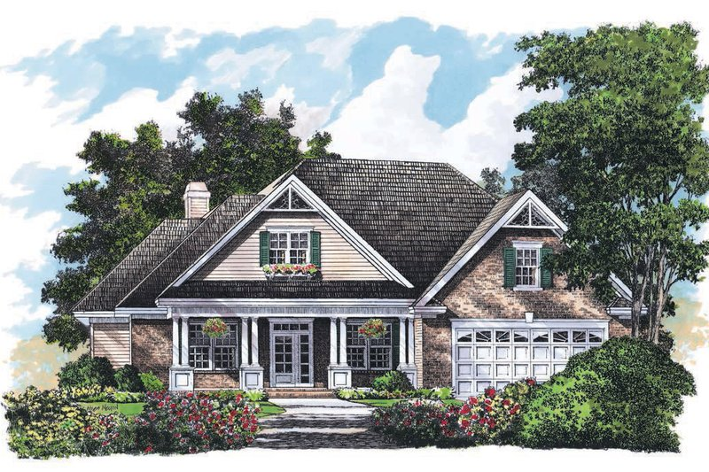 Home Plan - Country Exterior - Front Elevation Plan #929-714