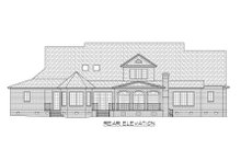 European Exterior - Rear Elevation Plan #1054-56