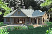 Craftsman Style House Plan - 4 Beds 3.5 Baths 2482 Sq/Ft Plan #120-184 Exterior - Rear Elevation