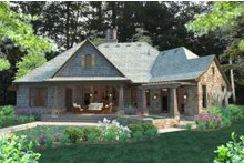House Design - Craftsman Exterior - Rear Elevation Plan #120-184