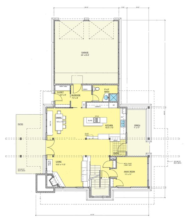 Contemporary Floor Plan - Main Floor Plan #573-2