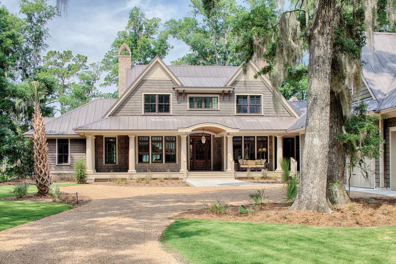 Country Exterior - Front Elevation Plan #928-1 - Houseplans.com