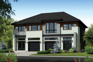 Contemporary Exterior - Front Elevation Plan #25-4396