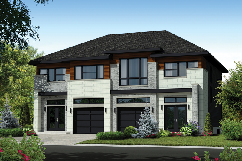 Contemporary Style House Plan - 5 Beds 2 Baths 3385 Sq/Ft Plan #25-4396 Exterior - Front Elevation