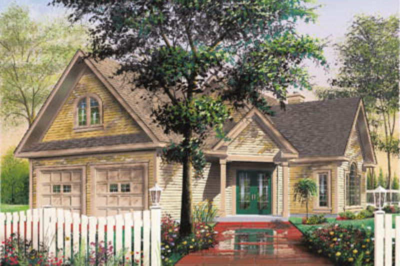 Farmhouse Exterior - Front Elevation Plan #23-230 - Houseplans.com