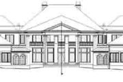 European Style House Plan - 5 Beds 5 Baths 8257 Sq/Ft Plan #119-228 Exterior - Rear Elevation