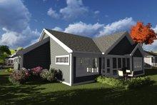 Ranch Exterior - Rear Elevation Plan #70-1237