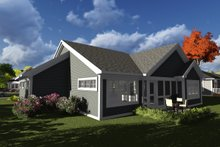 Dream House Plan - Ranch Exterior - Rear Elevation Plan #70-1237