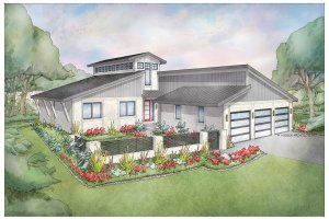 Modern Exterior - Front Elevation Plan #928-351