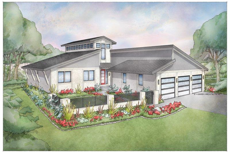 Home Plan - Modern Exterior - Front Elevation Plan #928-351