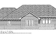 Dream House Plan - Traditional Exterior - Rear Elevation Plan #70-168