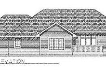 House Plan Design - Traditional Exterior - Rear Elevation Plan #70-168