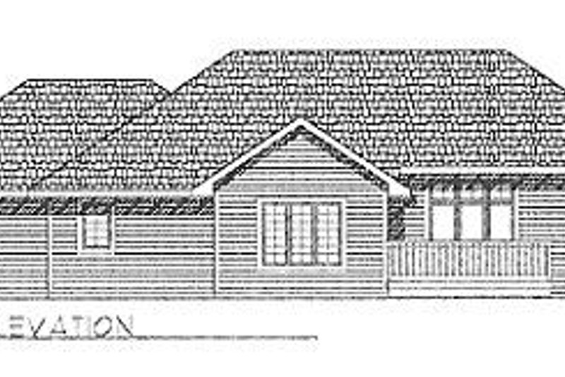 Traditional Exterior - Rear Elevation Plan #70-168 - Houseplans.com