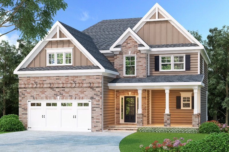 Craftsman Exterior - Front Elevation Plan #419-231
