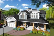 Craftsman Style House Plan - 6 Beds 4.5 Baths 5157 Sq/Ft Plan #70-1255 Exterior - Front Elevation